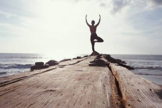 Strand Yoga bij Marie Pampoen