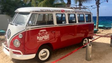 Scuba Lodge unveils new Scuba Bus, customized Volkswagen T1 from 1974