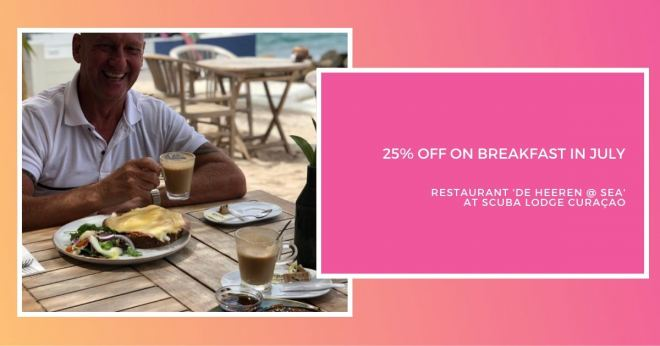25% Discount on all Breakfast Meals