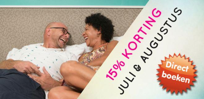 15% Korting in Juli en Augustus