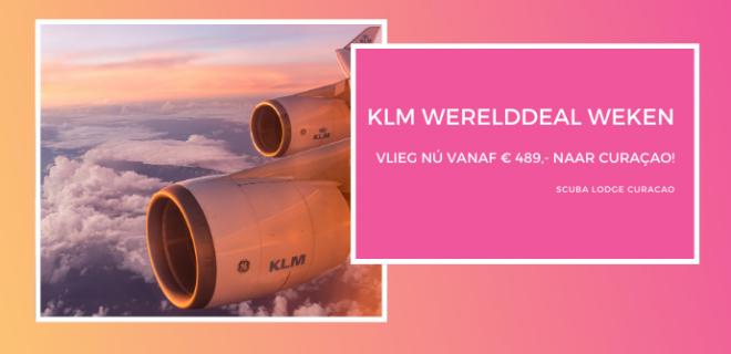 Met de KLM Werelddeal Weken naar Scuba Lodge Curacao!