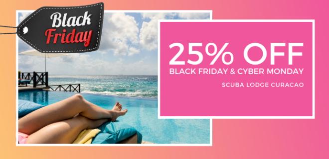 Black Friday Sale at Scuba Lodge: 25% discount!