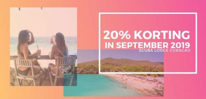 Met 20% korting naar Curaçao in September